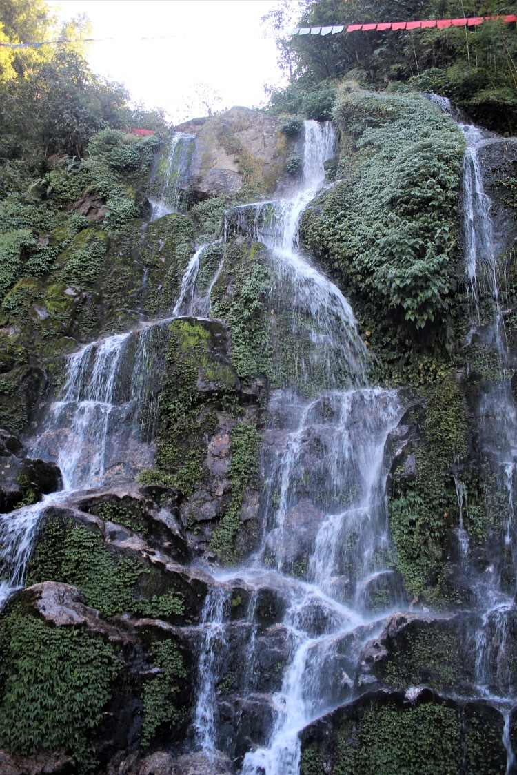 The Bakthang Waterfall