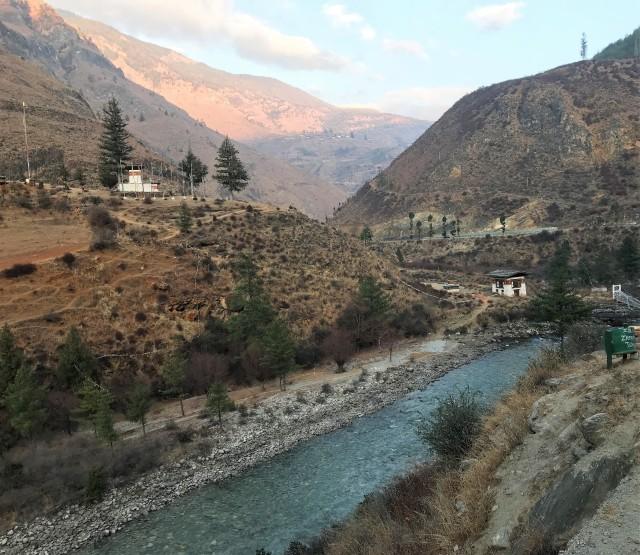 civilization, city, town, bhutan, river