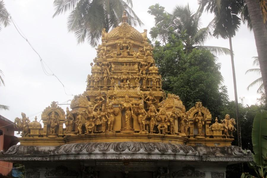 ornate, design, temple, gopuram, art