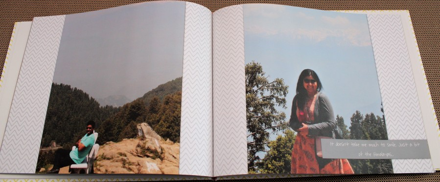 A Lay Flat Photo Book with our photos from the Chamba District trip