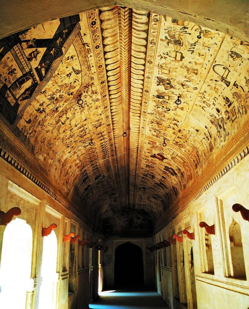 ogle, fresco, laxmi narayan mandir, orchha, madhya pradesh