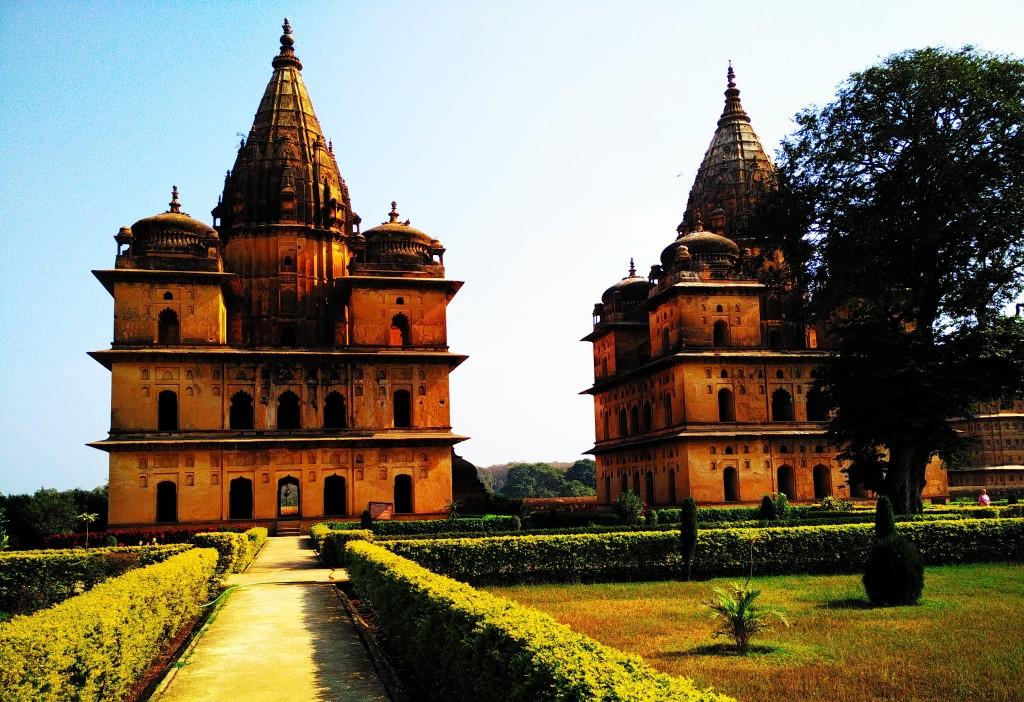 outstanding, monument, garden, charm, chhatri, orchha, madhya pradesh