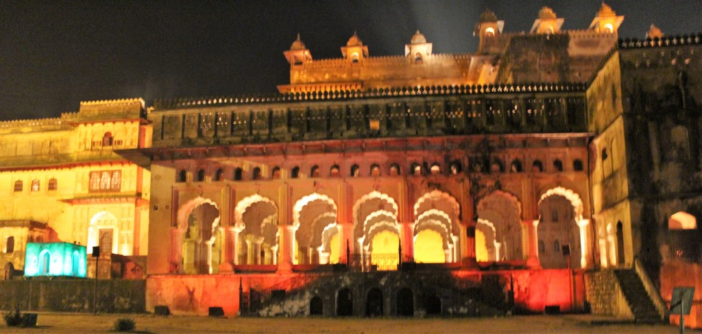 evening, light, sound, show, light and sound show, orchha fort, orchha