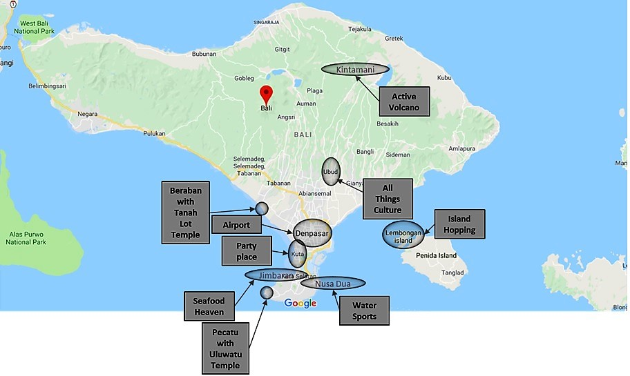 bali, map