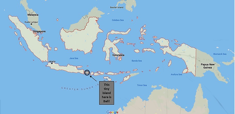 indonesia, map