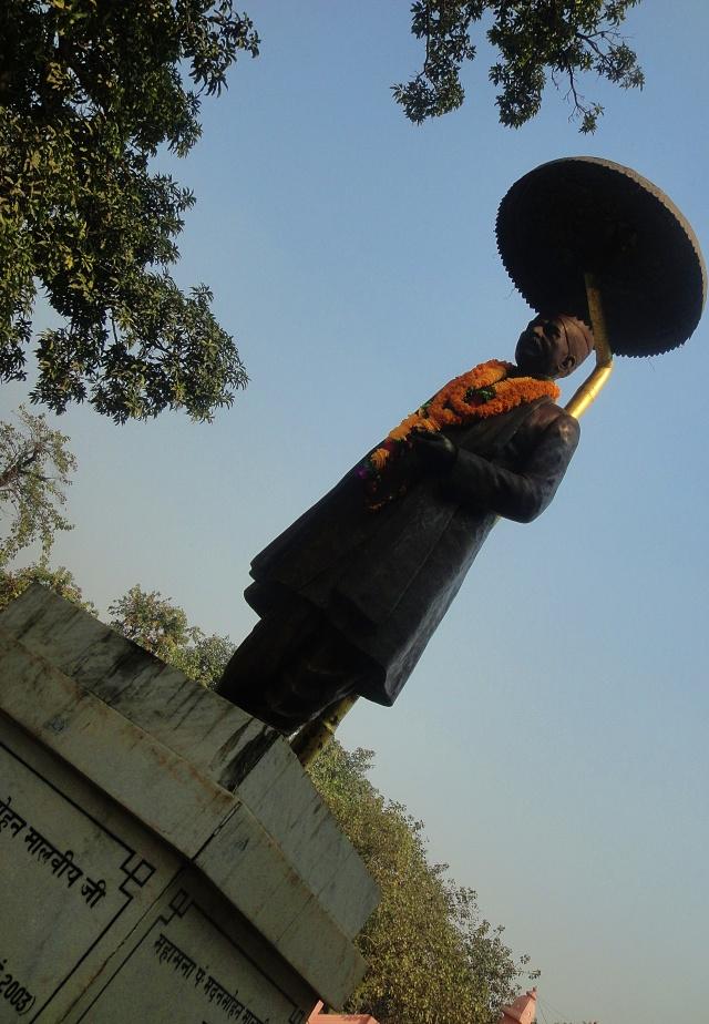 Statue, Madan Mohan Malviya, Banaras Hindu University, BHU, varanasi, uttar pradesh, india