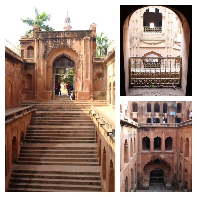 shahi baoli, bara imam bara complex, royal stepwell, lucknow, uttar pradesh, india