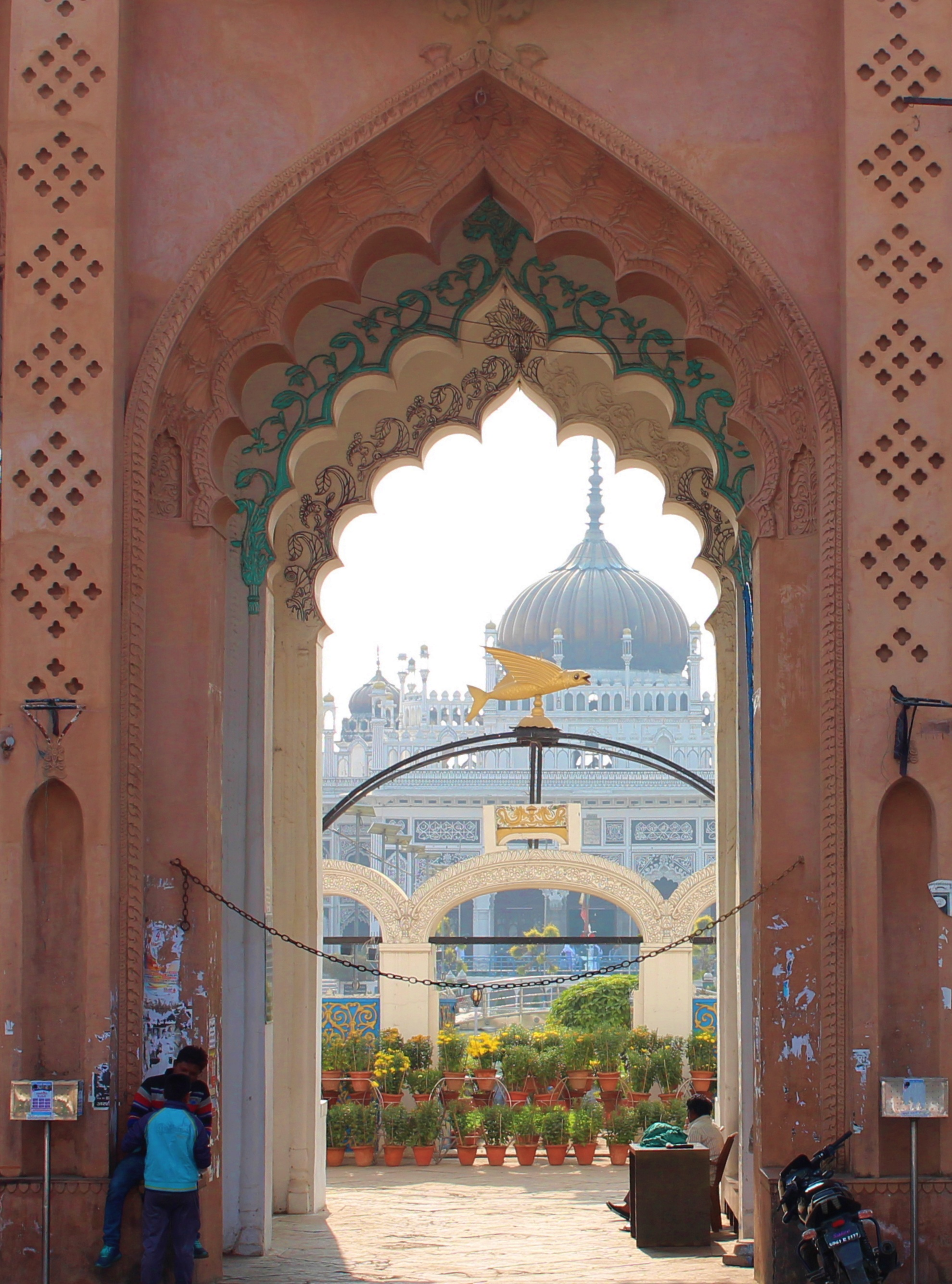 Chota Imam Bara, entrance, lucknow, uttar pradesh, india