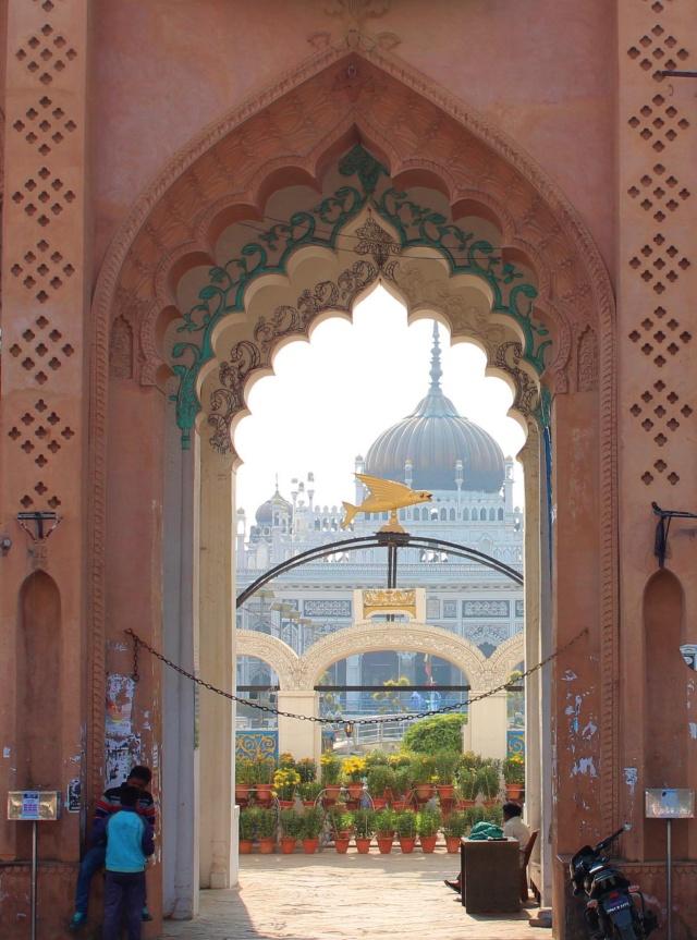 Chota Imam Bara, entrance, lucknow, uttar pradesh, india