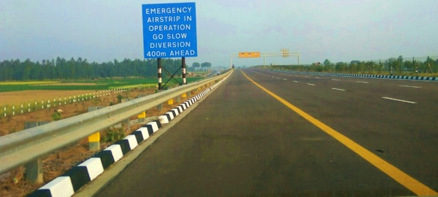 Emergency airstrip, Agra Lucknow Expressway, uttar pradesh, india